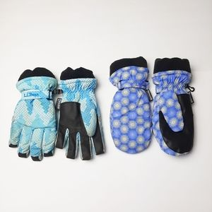 LLBean Childrens Gloves Mittens Thinsulate Large